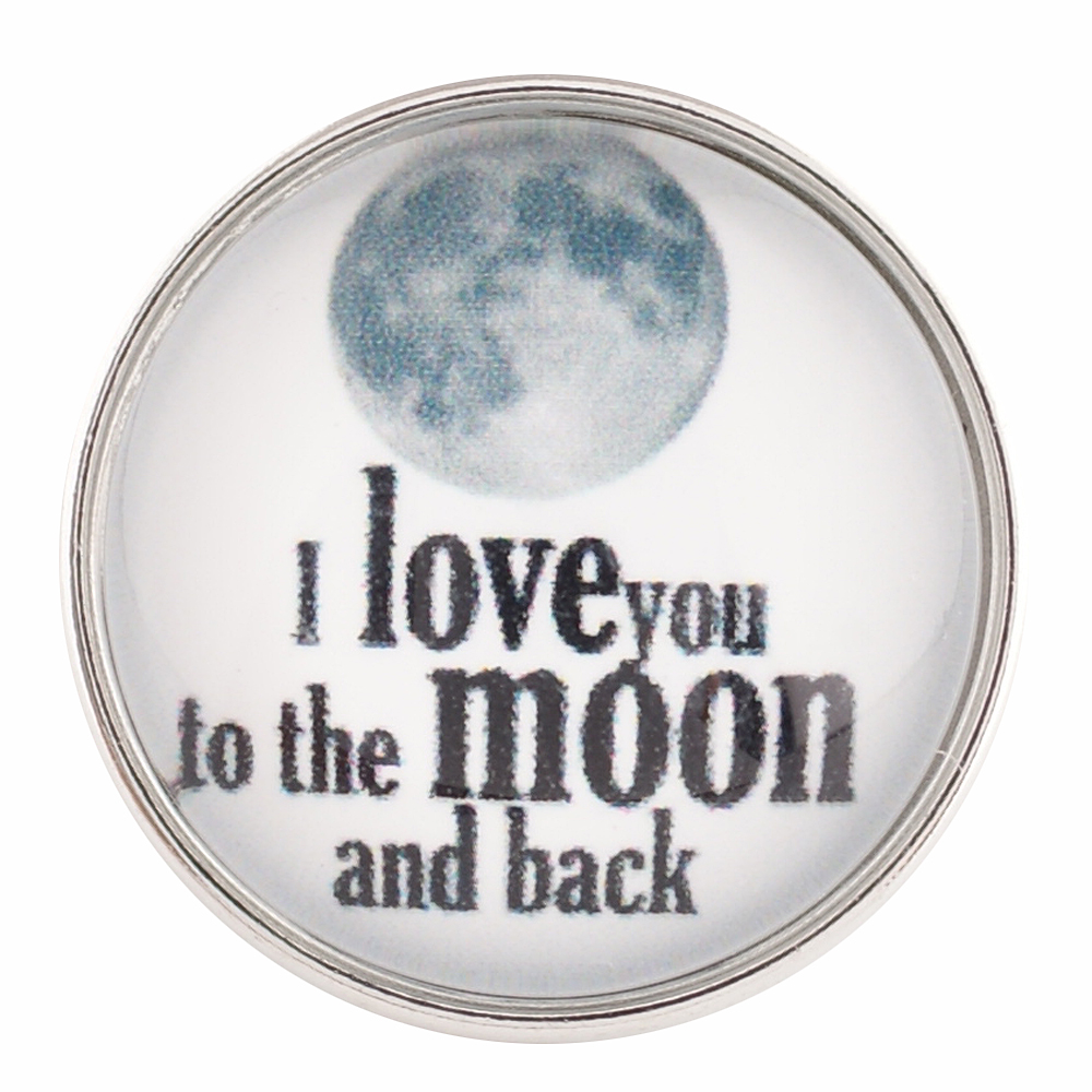 Snap Glass Jewelry - I love you to the Moon & Back