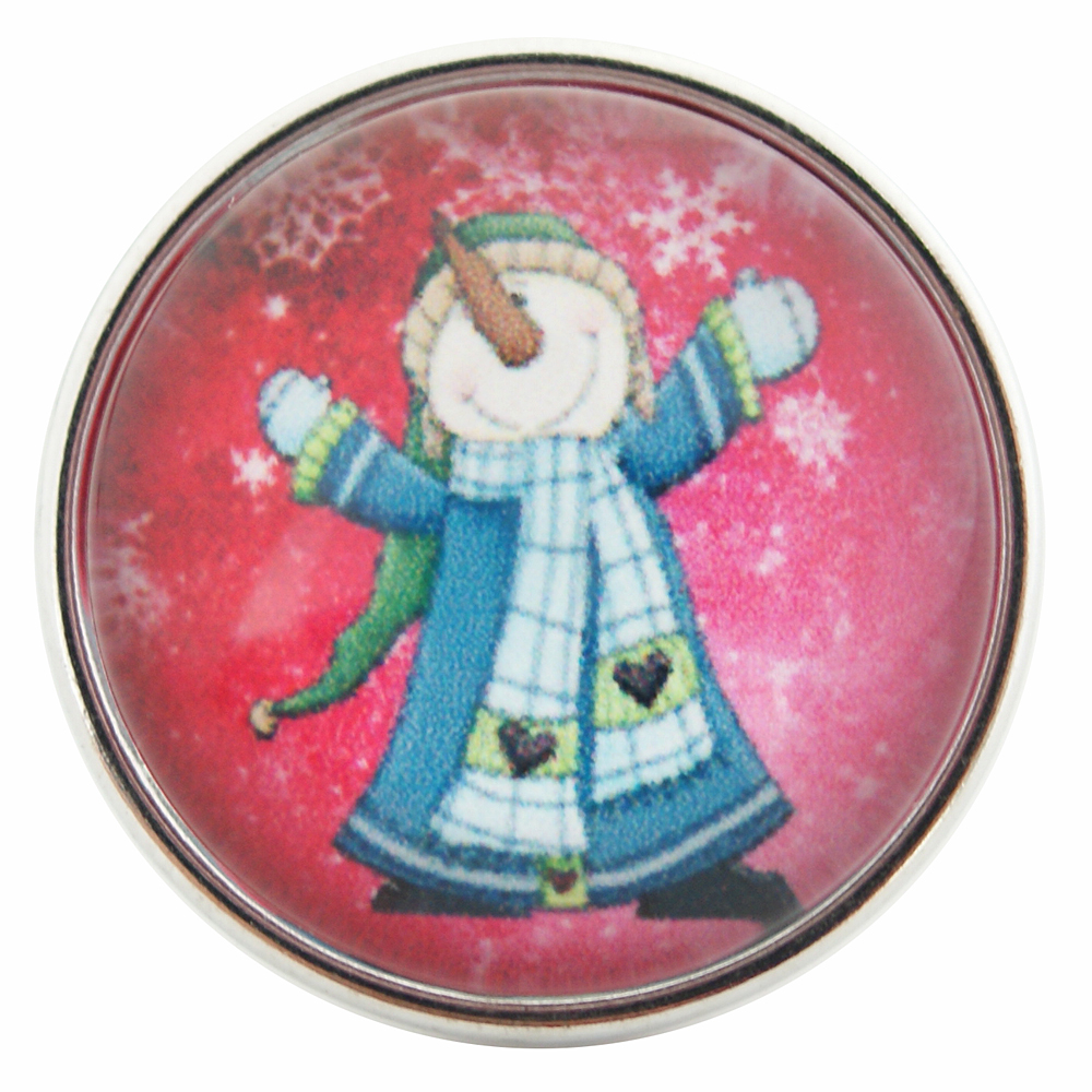 Snap Glass Jewelry - Snowman Winter Wonderland