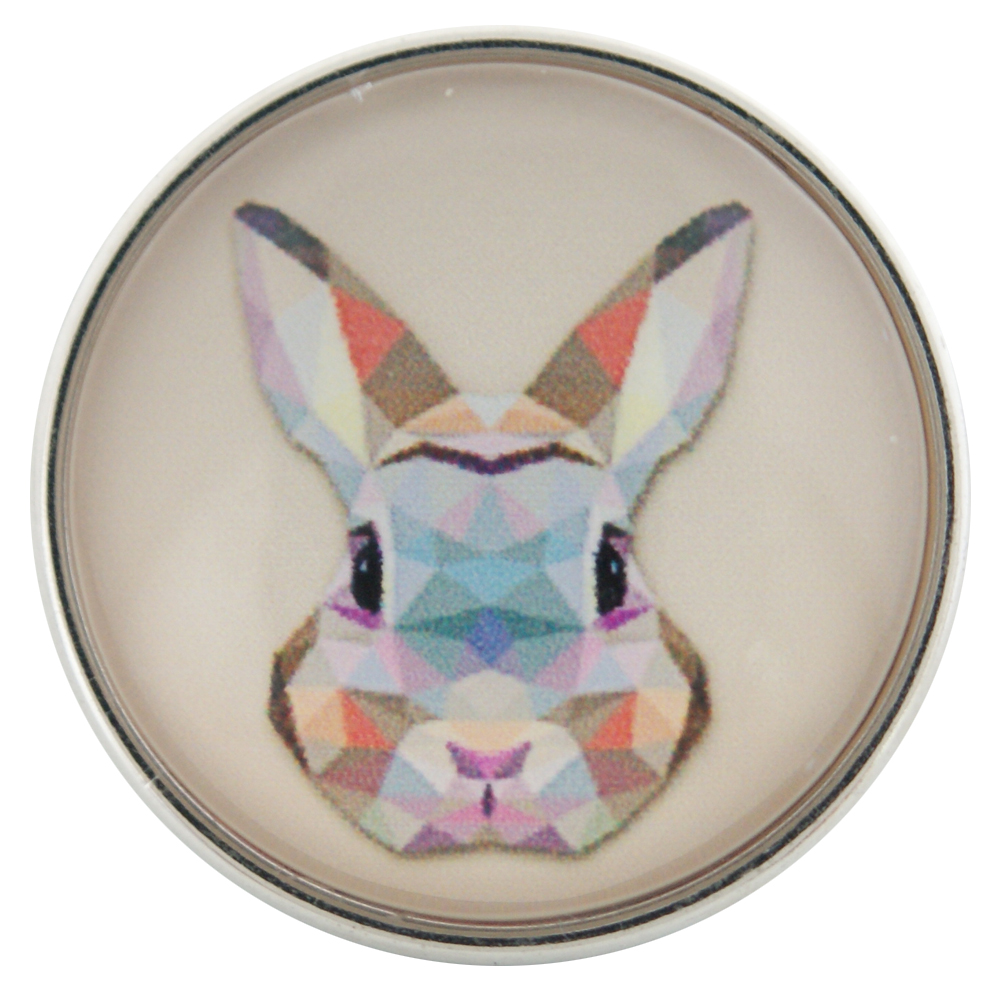 Snap Glass Jewelry Bunny Rabbit Easter