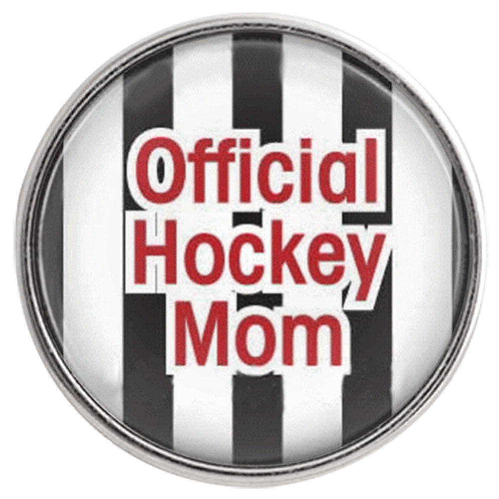 Snap Glass Jewelry - Sports Official Hockey Mom
