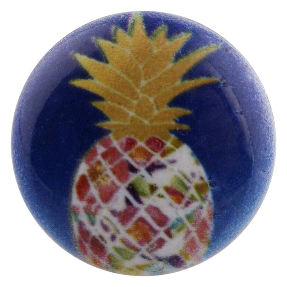Snap Jewelry Enamel Ceramic - Pineapple with Gold Fronds