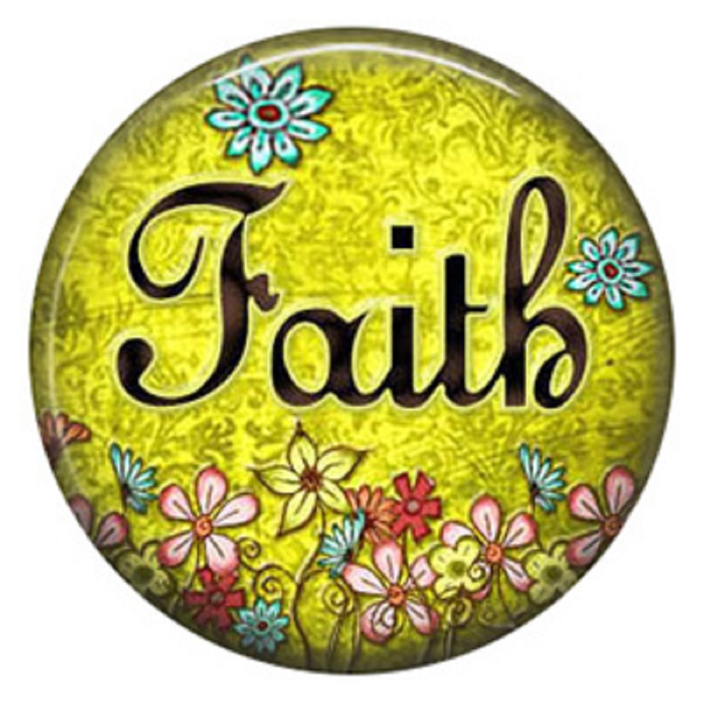 Snap Jewelry Enamel Ceramic - Faith