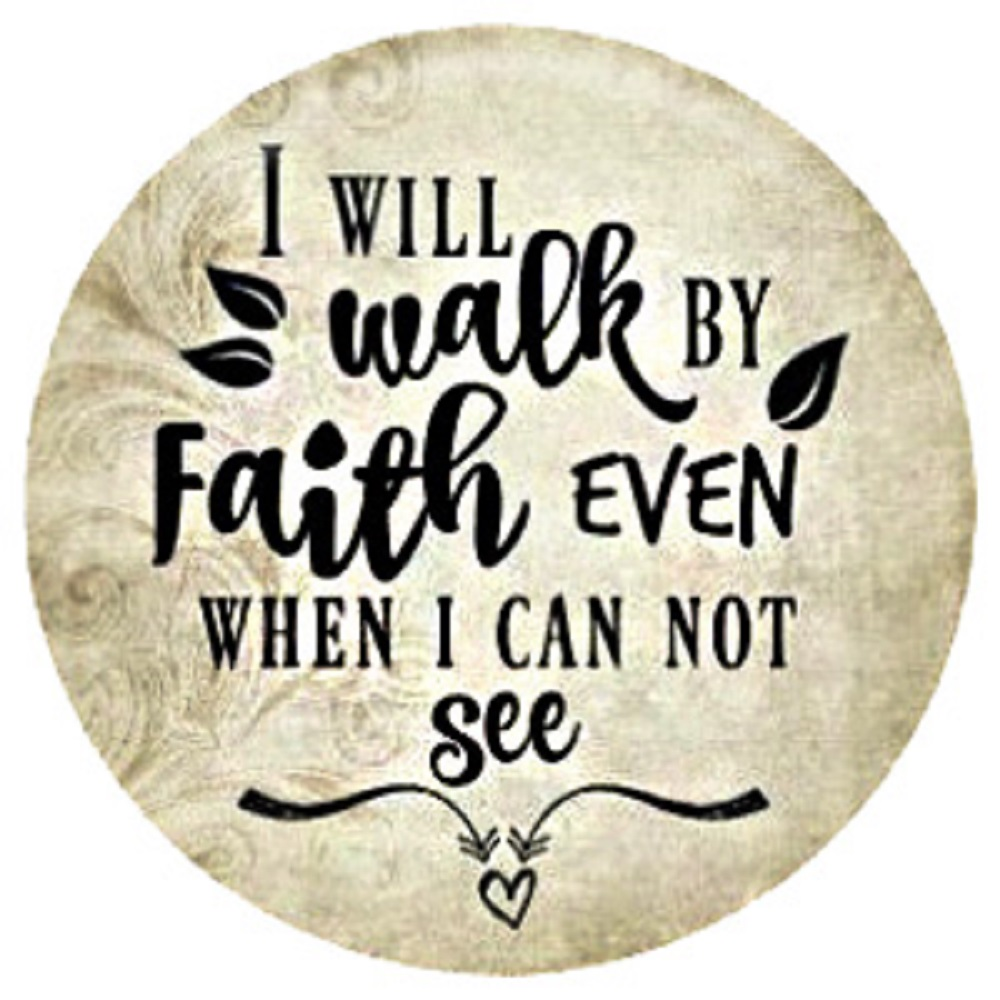Snap Jewelry Enamel Ceramic - I Will walk By Faith even when I