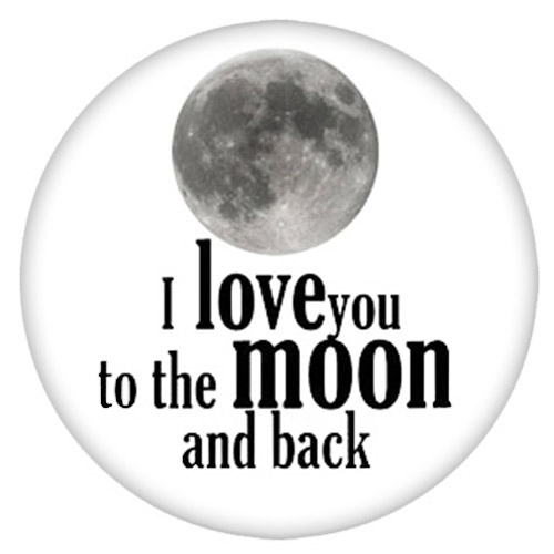 Snap Jewelry Enamel Ceramic - I Love to the Moon & Back