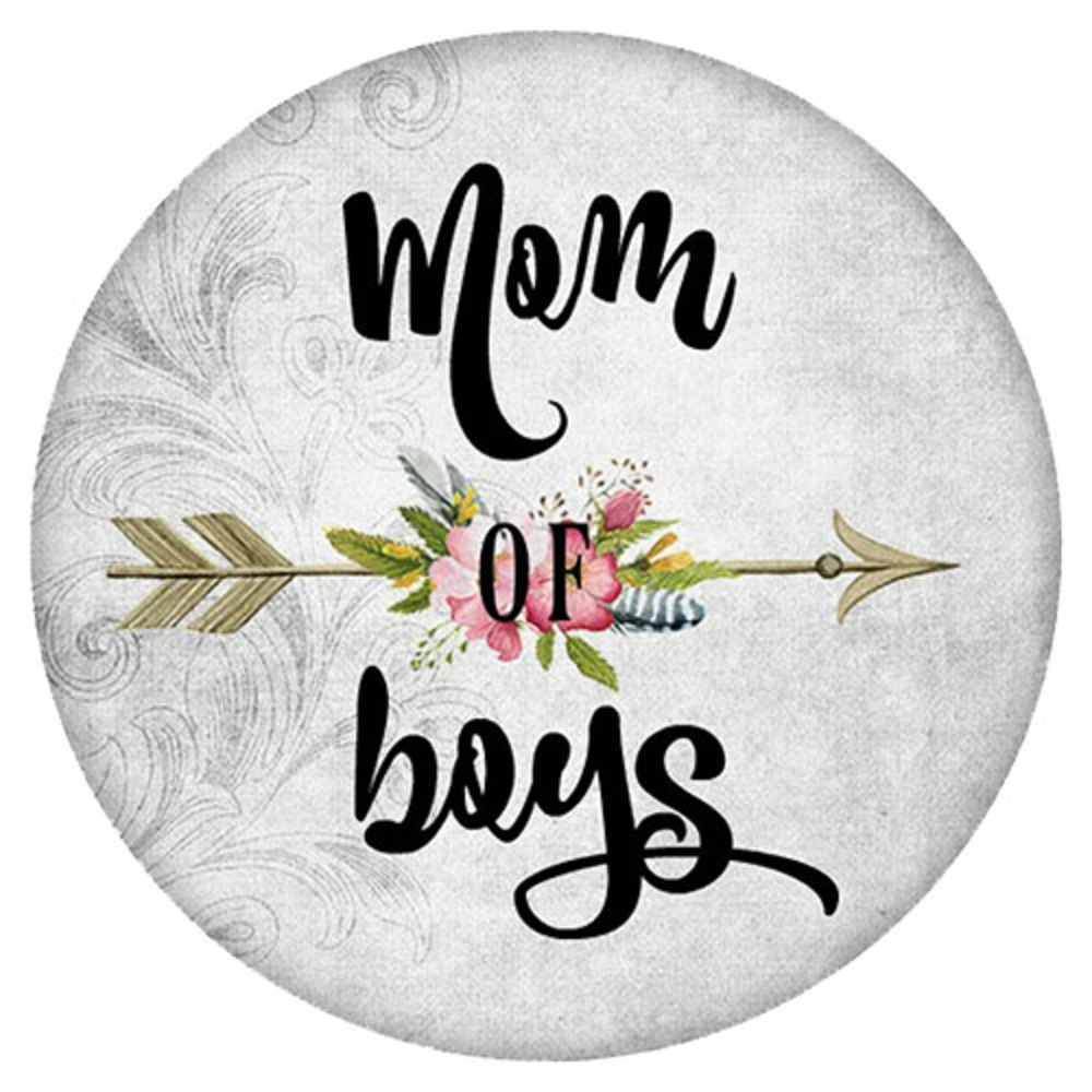Snap Jewelry Enamel Ceramic - Mom of Boys