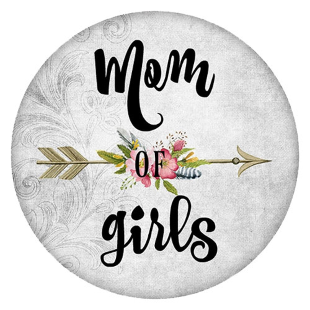 Snap Jewelry Enamel Ceramic - Mom of Girls