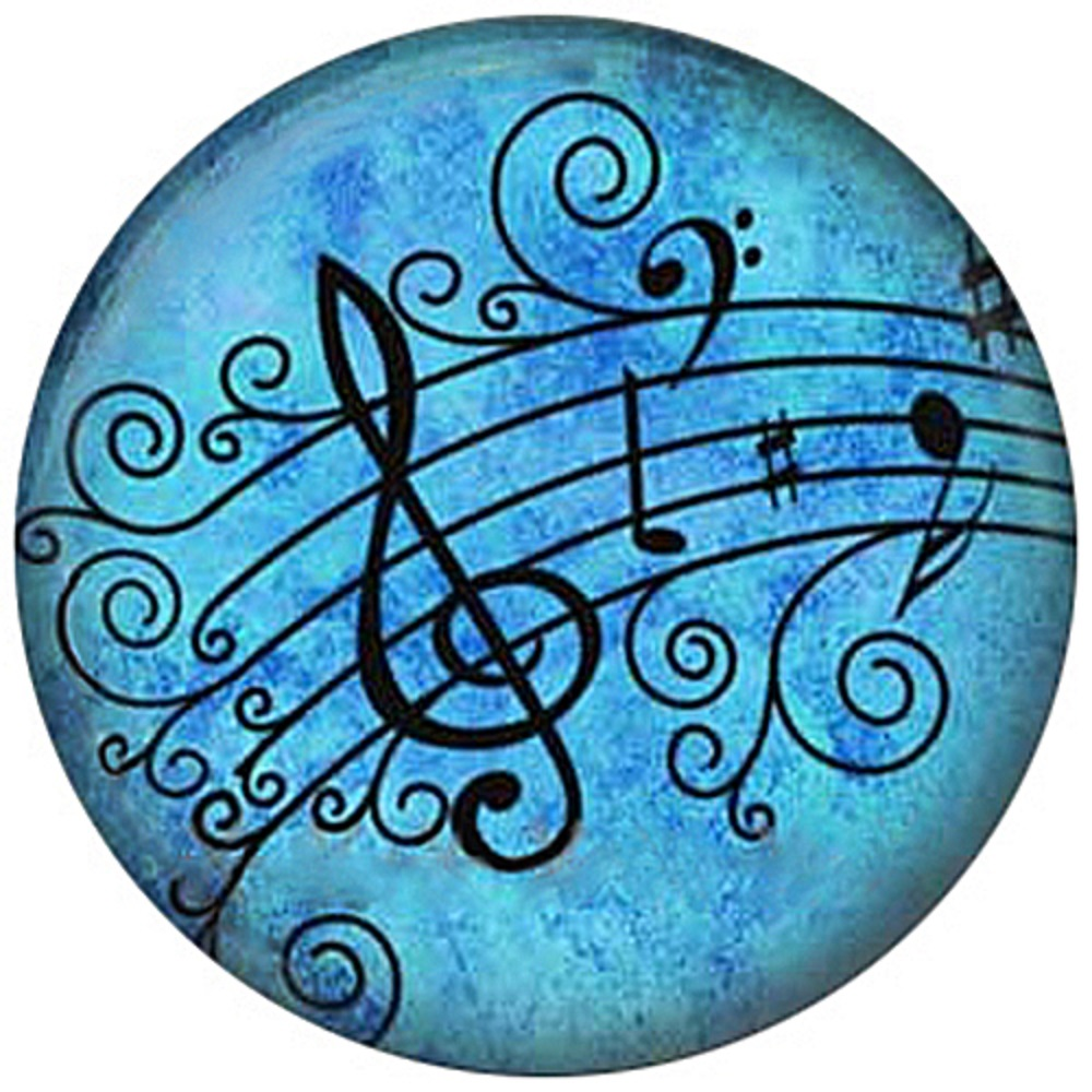 Snap Jewelry Enamel Ceramic - Musical Notes
