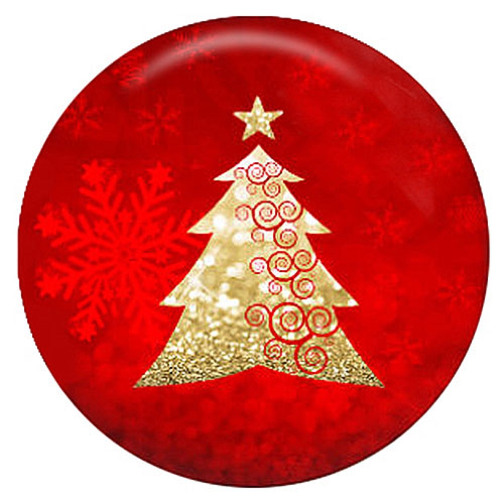 Snap Jewelry Enamel Ceramic - Gold Christmas Tree