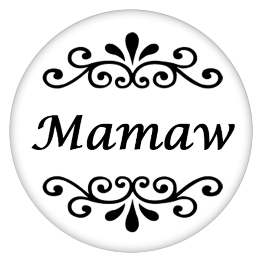 Snap Jewelry Enamel Ceramic - Mamaw