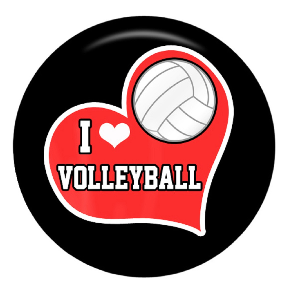 Snap Jewelry Enamel Ceramic - Sports Volley Ball