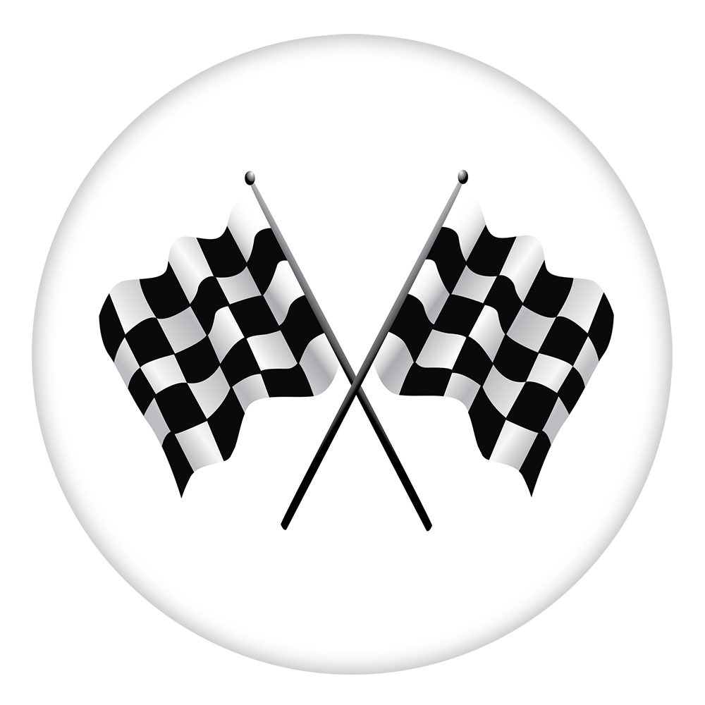 Snap Jewelry Enamel Ceramic - Sports Racing Flags