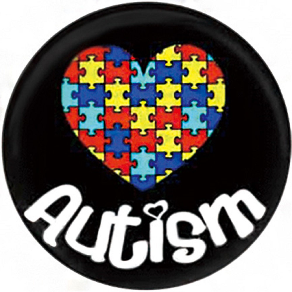 Snap Jewelry Enamel Ceramic - Autism Puzzle Heart