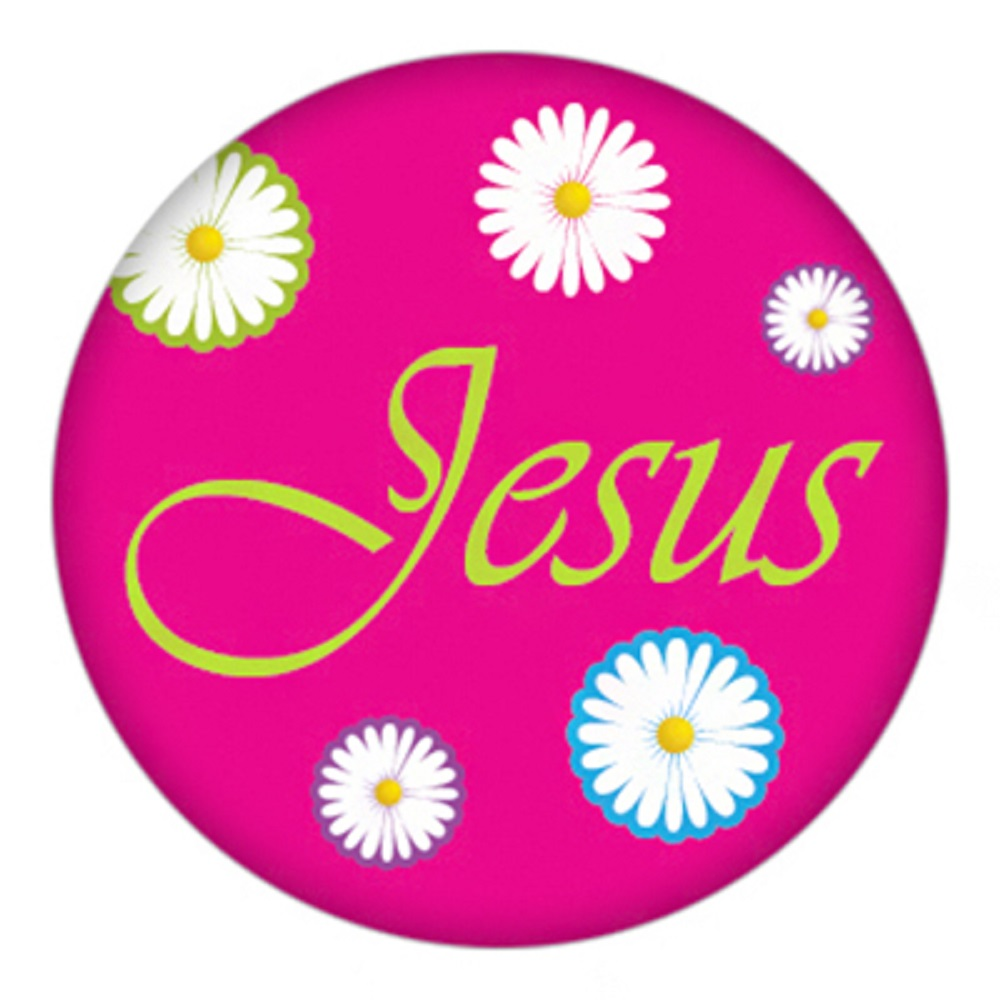 Snap Jewelry Enamel Ceramic - Jesus in script