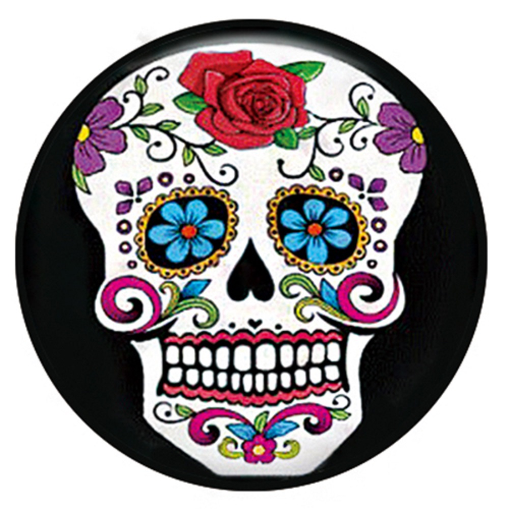 Snap Jewelry Enamel Ceramic - Sugar Skull