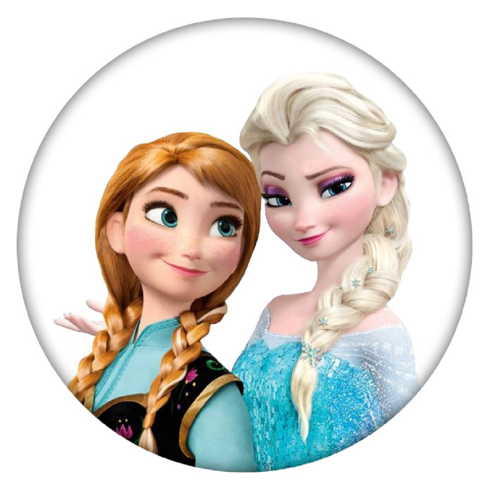 Snap Jewelry Enamel Ceramic - Cartoon Movie Character Sisters