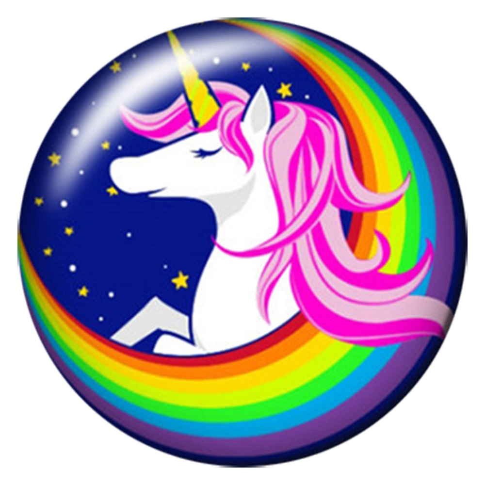 Snap Jewelry Enamel Ceramic - Unicorn & Rainbow