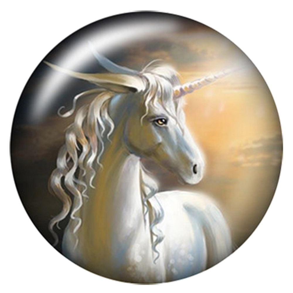 Snap Jewelry Enamel Ceramic - Unicorn