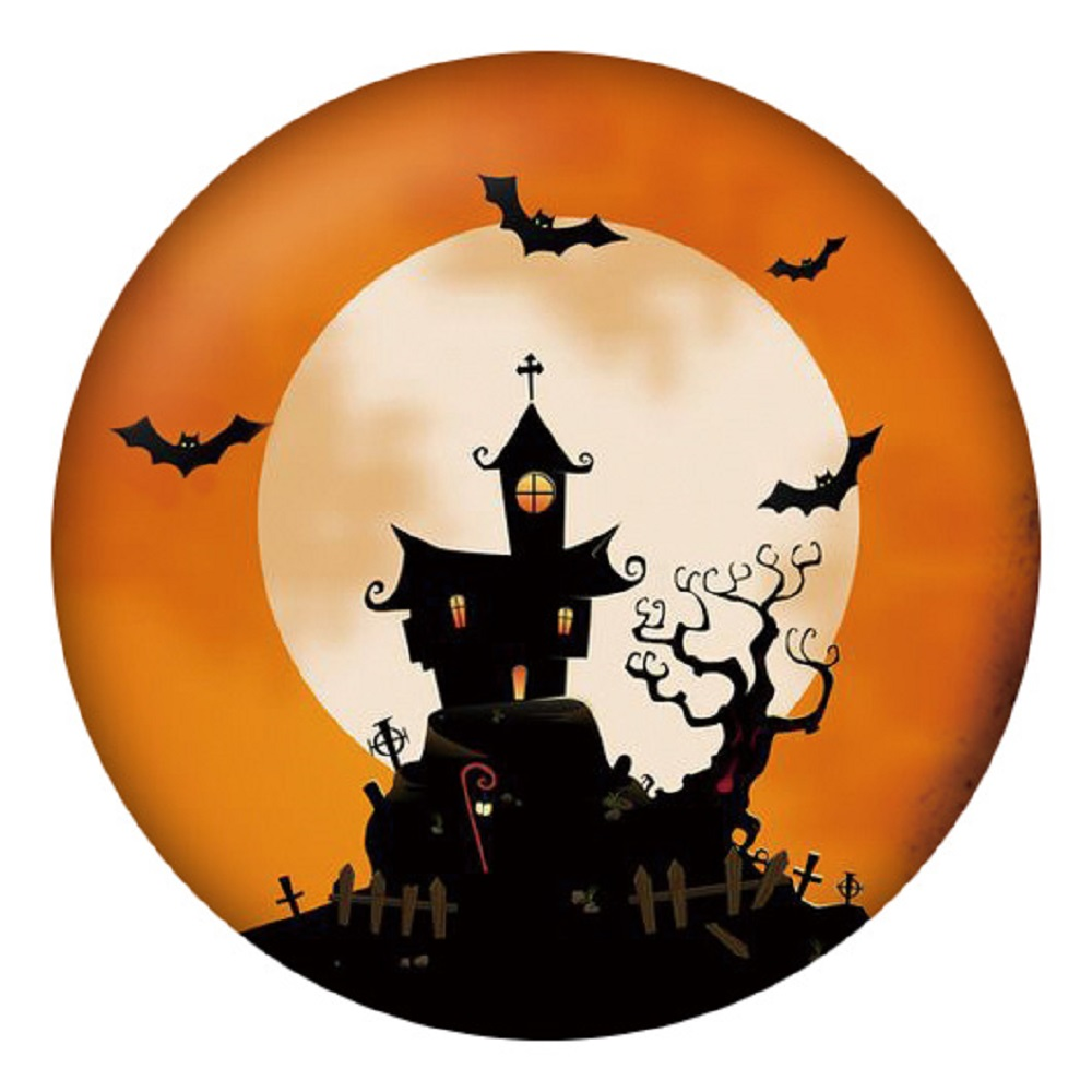 Snap Jewelry Enamel Ceramic - Halloween Haunted House