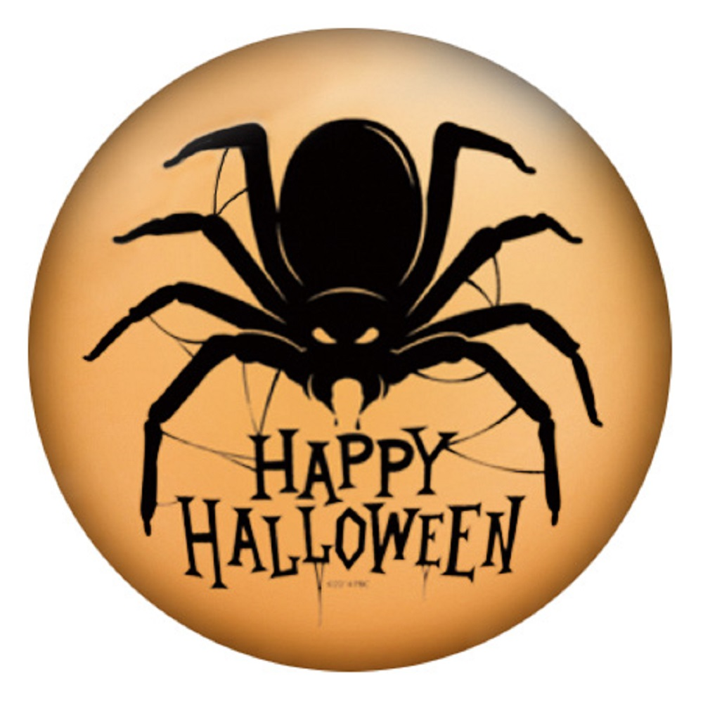Snap Jewelry Enamel Ceramic - Happy Halloween Spider