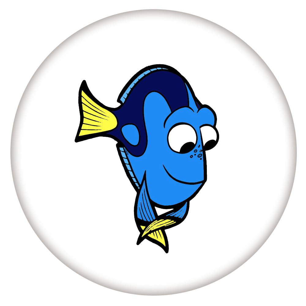 Snap Jewelry Enamel Ceramic - Cartoon Fish Blue