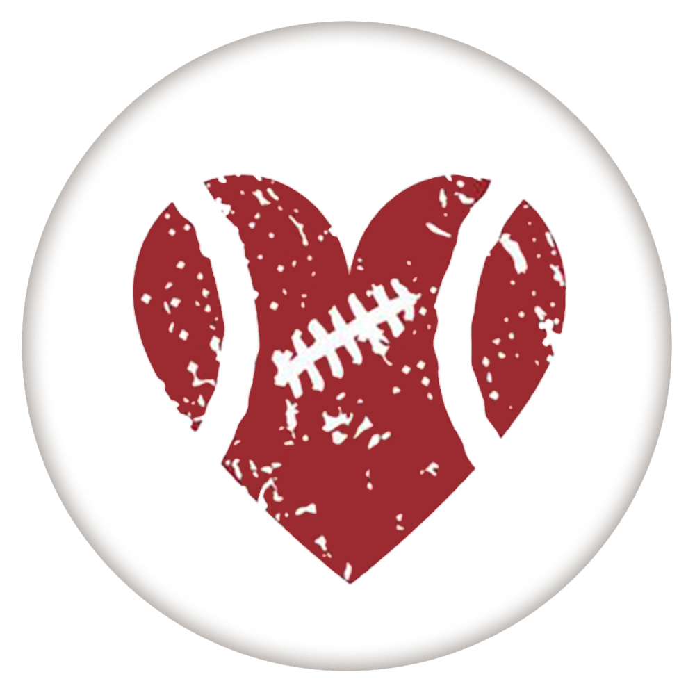 Snap Jewelry Enamel Ceramic - Sports Football Heart