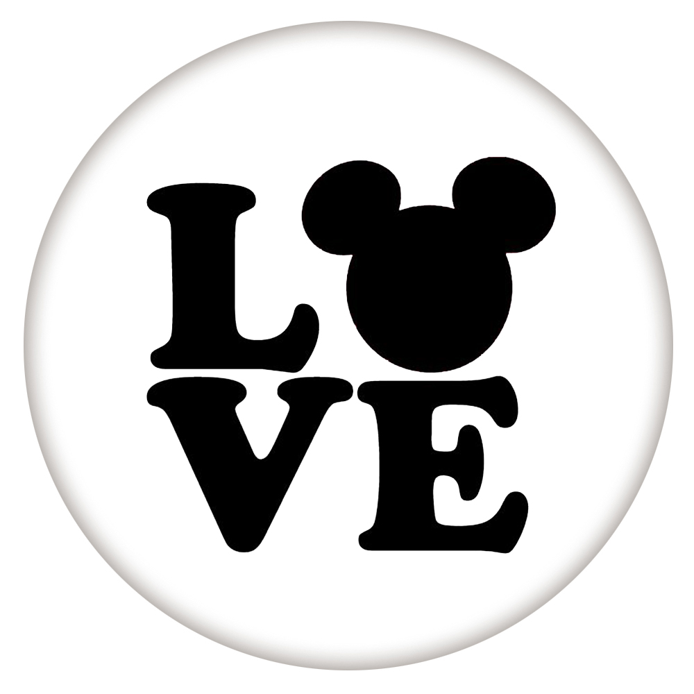 Snap Jewelry Enamel Ceramic - Cartoon Love Mouse