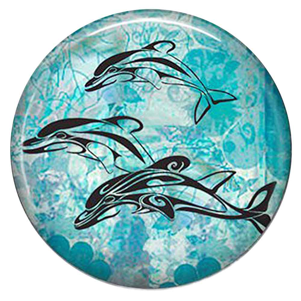 Snap Jewelry Enamel Ceramic - Dolphins