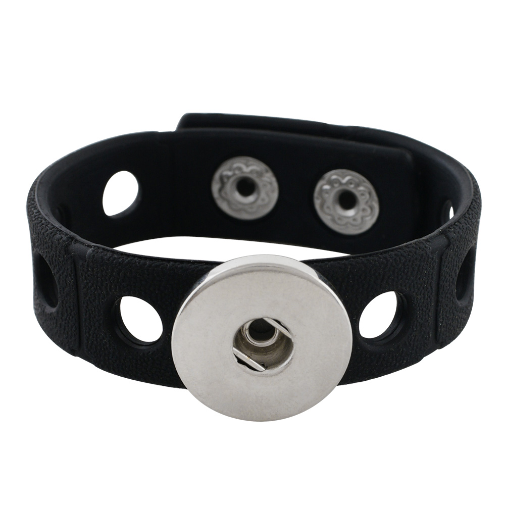 Children' Style Snap Bracelet Black - Holds 6-8 Snap Characters