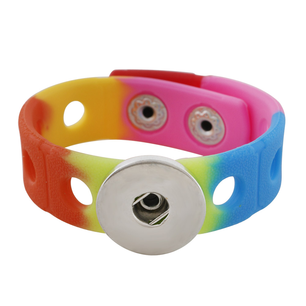 Children' Style Snap Bracelet Rainbow - Holds 6-8 Characters