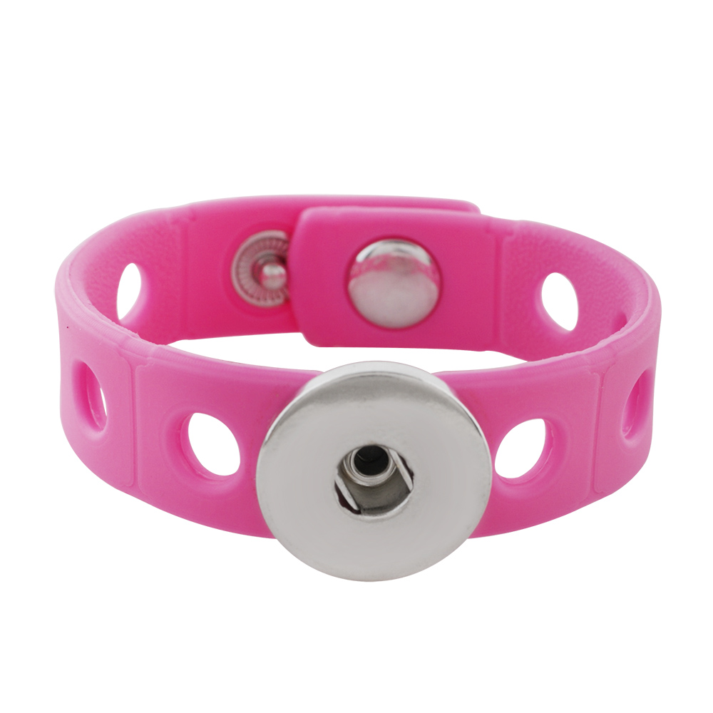 Children' Style Snap Bracelet Pink - Holds 6-8 Snap Characters
