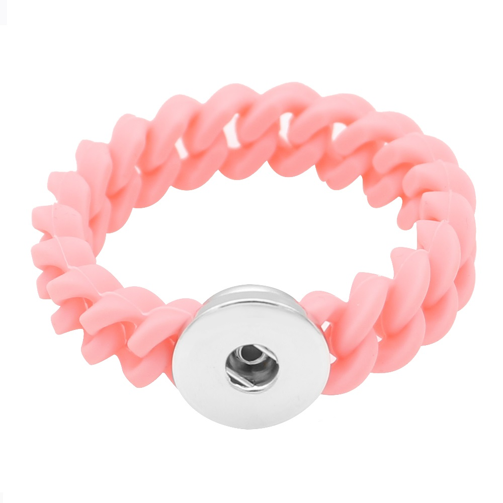Children' Style Snap Bracelet Pink - Holds 1 18-20mm Snap 6""