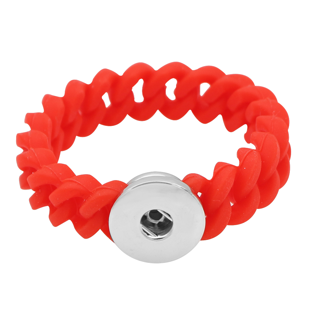 Children' Style Snap Bracelet Red - Holds 1 18-20mm Snap 6""