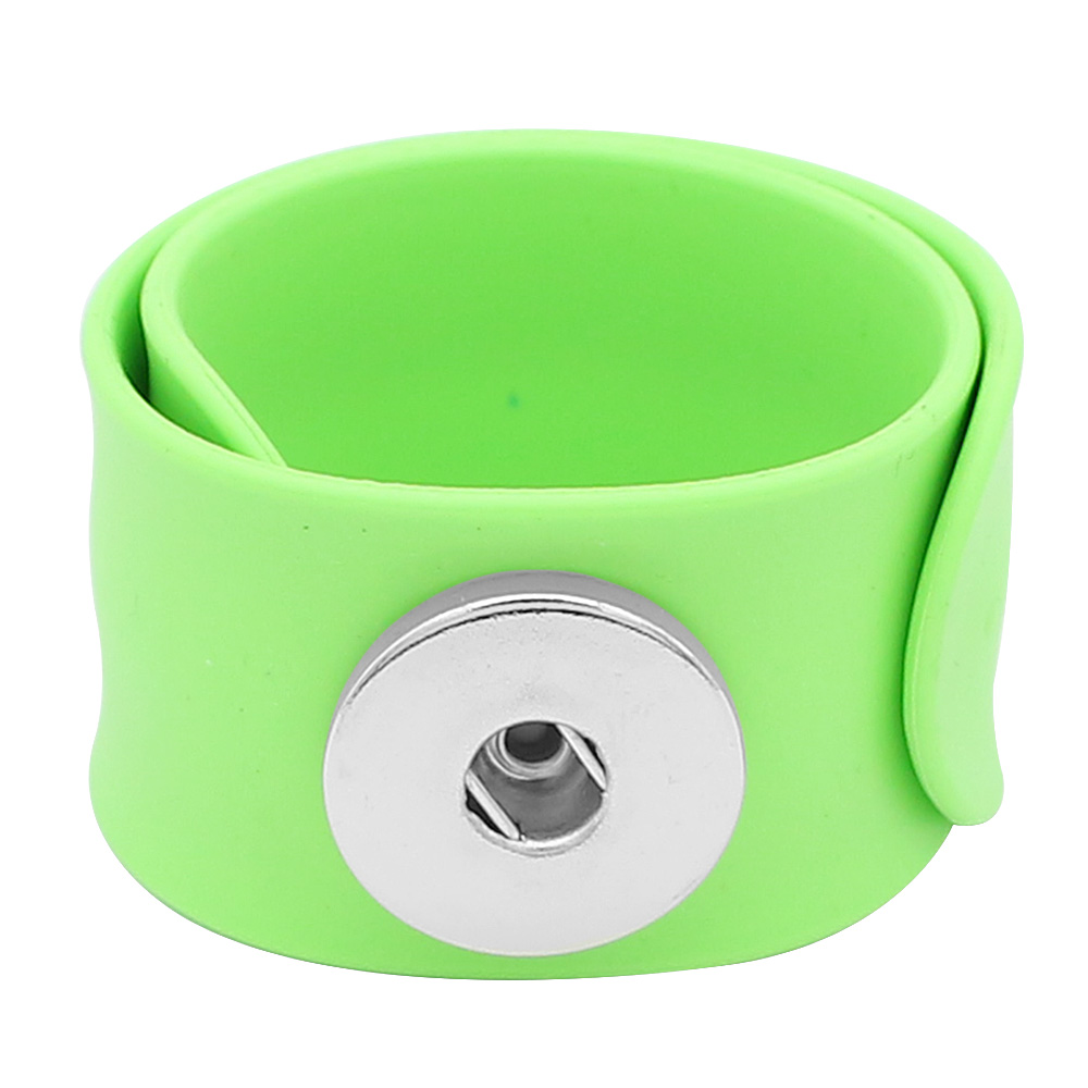Snap Jewelry Bracelet Silicone Slap-On Style for all Ages Lime