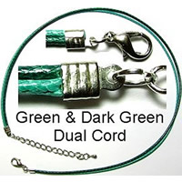 Green and Dark Green Dual Cord