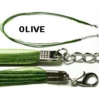 "22"" Olive Green Long Ribbon"