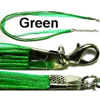"18"" Green Short Ribbon"