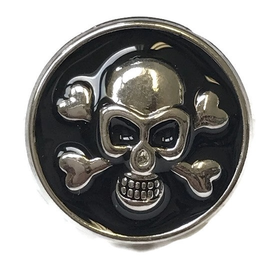 Snap Jewelry Enamel - Skull