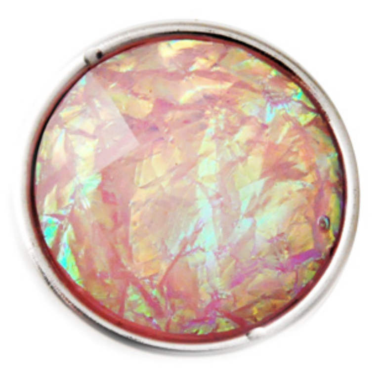 Snap Dichroic Jewelry - White & Light Pink