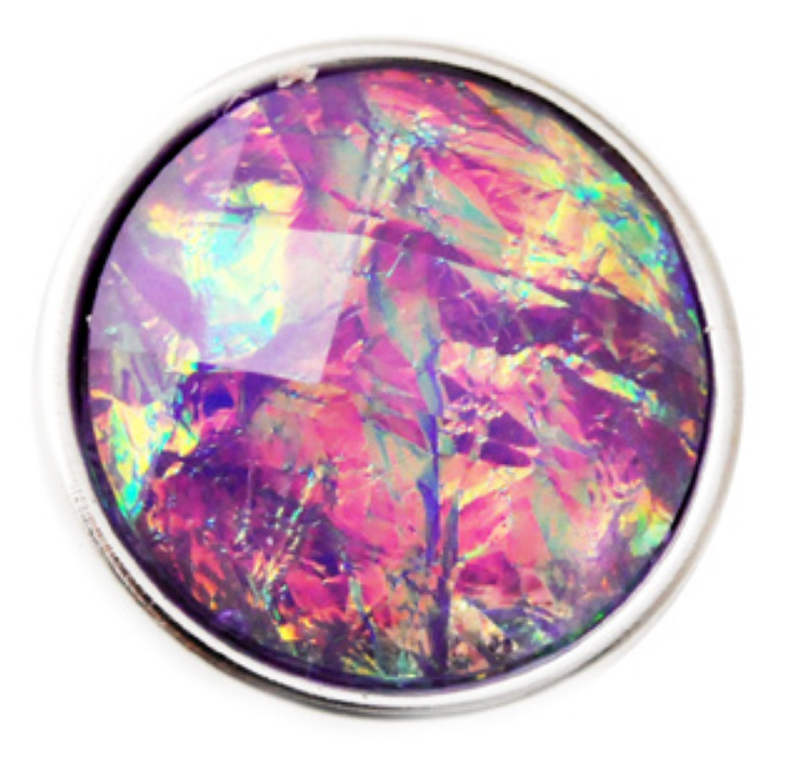 Snap Dichroic Jewelry - Blue, Purple & Pink
