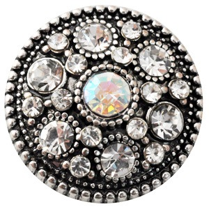 Snap Jewerly Rhinestone AB Halo Clear
