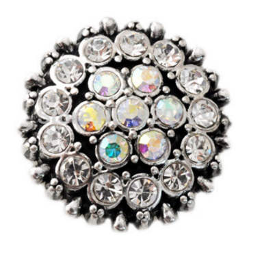 Snap Jewelry Rhinestone - Antique AB and Clear Halo