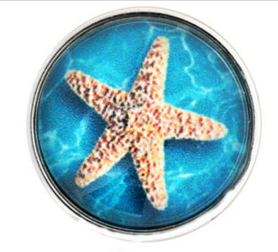 Snap Glass Jewelry Starfish in ocean