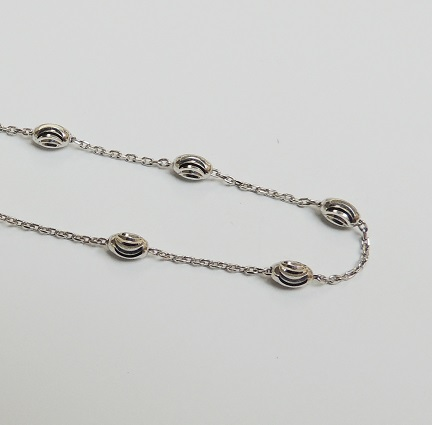 925 Sterling Silver Moon Link Chain - Silver 18""