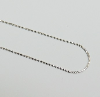 925 Sterling Silver Diamond Cut Snake - Silver 20""