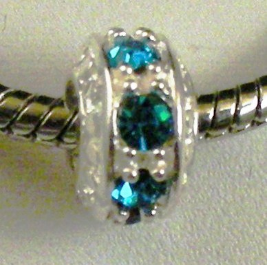 Charm 925 - Crystals - Blue/Turquois