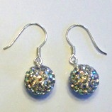 charm 925 - Pave Ball Earrings - AB