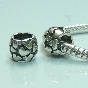 Charm 925 - Marcasite Hearts
