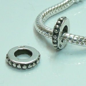 Charm 925 - Marcasite Spacer Raised Dots