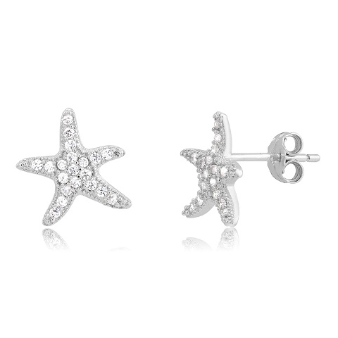 925 - Sterling - Starfish Small Stud Earrings