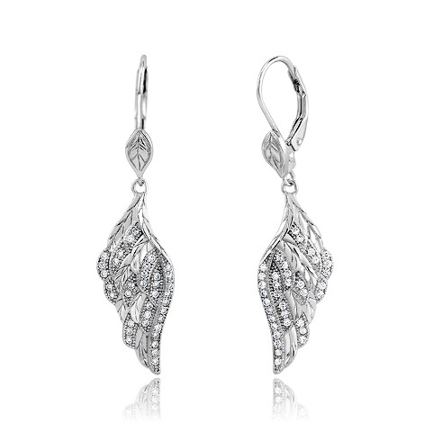 925 - Sterling - Wing Lever Back Earrings